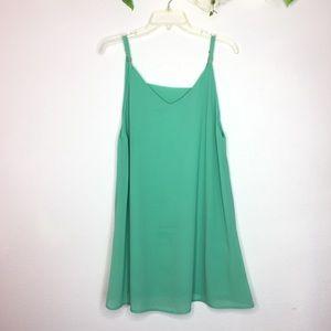 Lulu's | Aqua Shift Dress Cutout Back